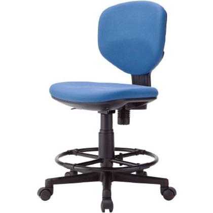 アイリスチトセ 回転椅子BIT-EX43ハイタイプ ブルー  BIT-EX43LH-F-BL