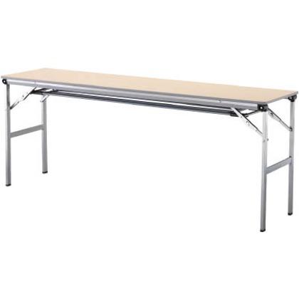 アイリスチトセ 折畳みテーブルLOT 棚付き1560Tサイズ ナチュラル  LOT-1560T-NA