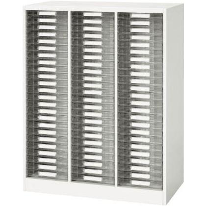 ダイシン 壁面収納庫A4レターケース型下置き専用W800ホワイト V840-11PSA