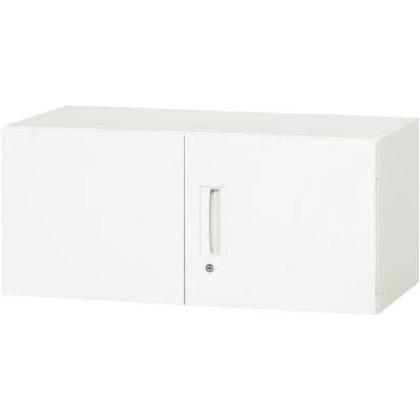 ダイシン 壁面収納庫 両開き型 上置き専用D310 ホワイト  V930-04H