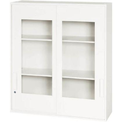 ダイシン 壁面収納庫窓付き引戸型上置き専用D310ホワイト V930-10SG