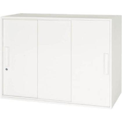 ダイシン 壁面収納庫 3枚引戸型 上下兼用D400 ホワイト  V940-07TS