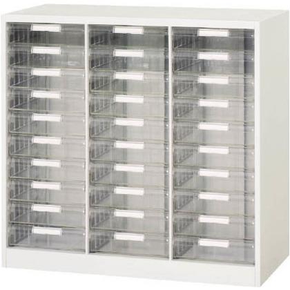 ダイシン 壁面収納庫B4レターケース型下置き専用D400ホワイト V940-09PDB