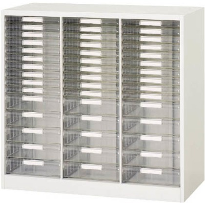 ダイシン 壁面収納庫B4レターケース型コンビ下置き専用D400ホワイト V940-09PSDB
