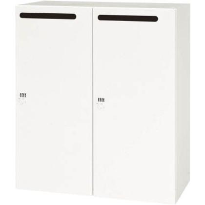ダイシン 壁面収納庫メールロッカー型下置き専用D450ホワイト V945-112MLD