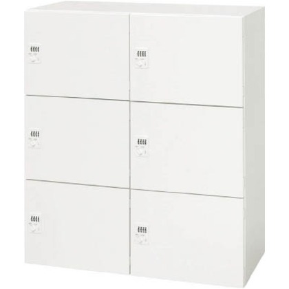 ダイシン 壁面収納庫メールロッカー型下置き専用D450ホワイト V945-116PLD
