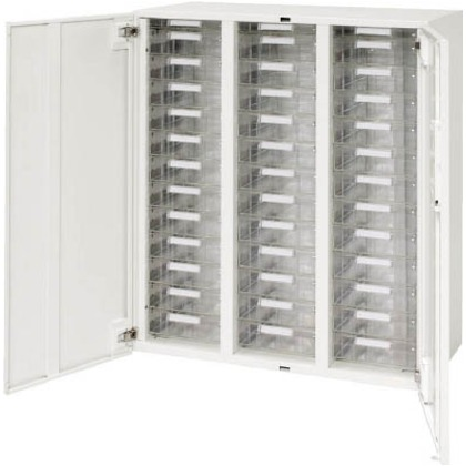 ダイシン 壁面収納庫両開きレターケース型下置き専用D450ホワイト V945-11HPDA