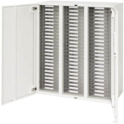 ダイシン 壁面収納庫両開きレターケース型下置き専用D450ホワイト V945-11HPSA