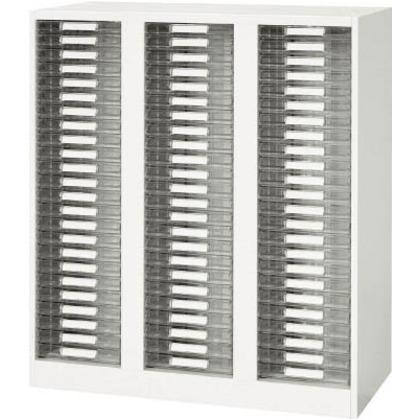 ダイシン 壁面収納庫A4レターケース型下置き専用D450ホワイト V945-11PSA