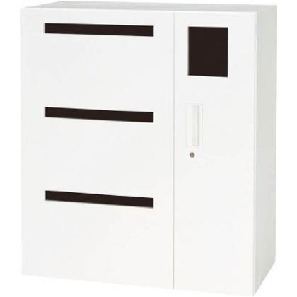 ダイシン 壁面収納庫リサイクルボックス型下置き専用D450ホワイト V945-11RB