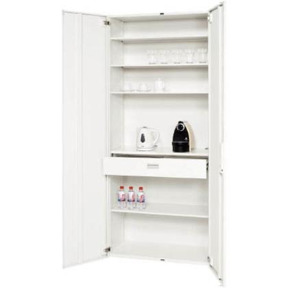 ダイシン 壁面収納庫キッチンケース型下置き専用D450ホワイト V945-21CC