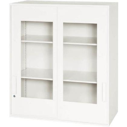 ダイシン 壁面収納庫窓付き引戸型上置き専用D500ホワイト V950-10SG