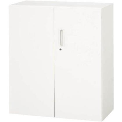 ダイシン 壁面収納庫 両開き型 下置き専用D500 ホワイト  V950-11H