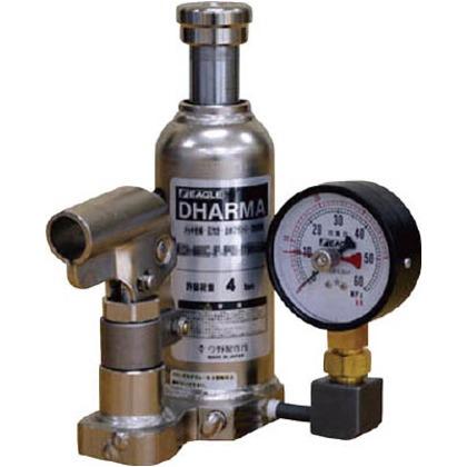 イーグル 置針式ゲージ付油圧ジャッキクリーンルームタイプ能力10t ED-100C-PG-75H-100