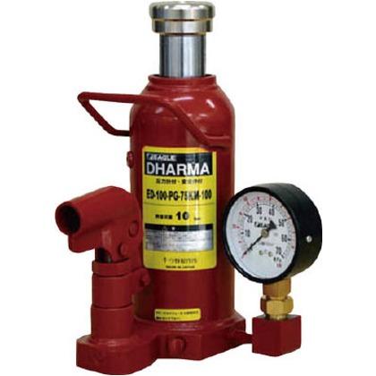 イーグル ゲージ付油圧ジャッキ能力16t ED-160-PG-75KM-160