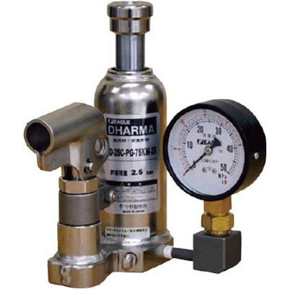 イーグル ゲージ付油圧ジャッキクリーンルームタイプ能力6t ED-60C-PG-75KM-60