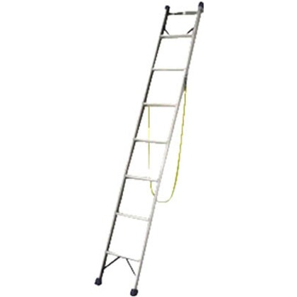 ピカ 電柱ハシゴSWK型 電柱支エ・巻付ケベルト標準装備 2.1m ブラック SWK-B20C