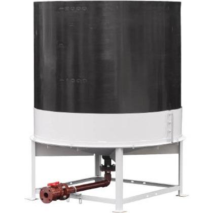 ※法人専用品※スイコー 耐熱OHT型上部開放完全液出しタンク3000 TU-OHT3000