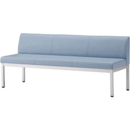 アイリスチトセ ロビーチェア フルータ4型背付W1500  ブルー  CLB-1553-BL