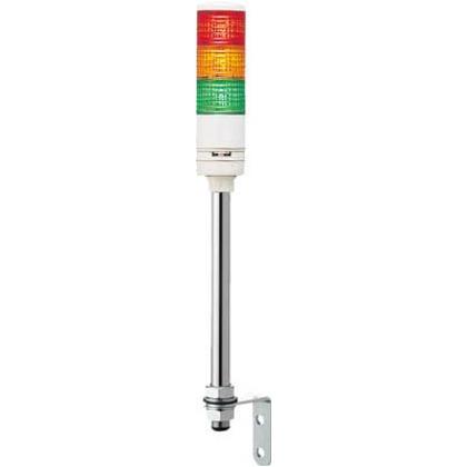 デジタル 赤黄緑 φ60 積層式LED表示灯+ブザー+点滅(ポール)  XVC6B35S RYG