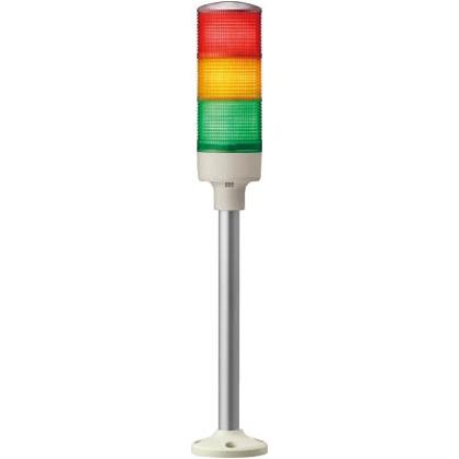 デジタル 赤黄緑 φ60 積層式LED表示灯円形取付台+ポール  XVGB3H RYG