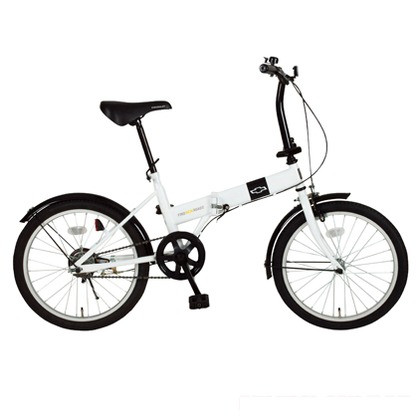 CHEVROLET 折りたたみ自転車20インチ ホワイト (組立時)143×55×103cm MG-CV20R FDB20R
