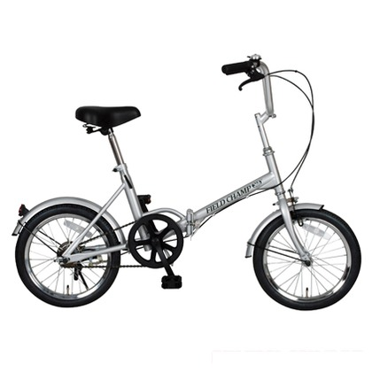 FIELD CHAMP 折りたたみ自転車16インチ シルバー (組立時)130×54×100cm No.72750 365 FD