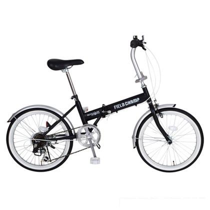 FIELD CHAMP 折りたたみ自転車20インチ ブラック (組立時)148×55×102cm MG-FCP206 FDB20