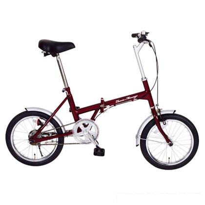 Classic Mimugo 折りたたみ自転車16インチ クラシックレッド (組立時)130×53×94cm MG-CM16 FDB16