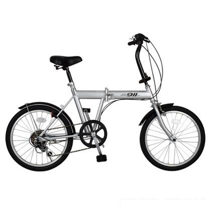 ACTIVE911 ノーパンク折りたたみ自転車 シルバー (組立時)147×56×100cm MG-G206N FDB206