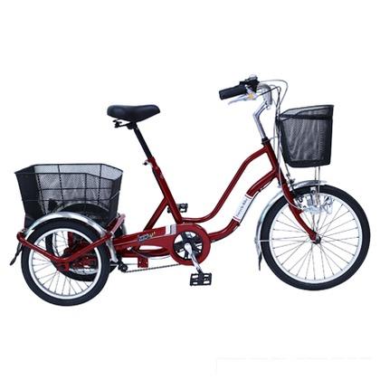 SWING CHARLIE911ノーパンク三輪自転車E ワインレッド (組立時)160×59×99.5cm MG-TRW20NE