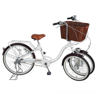 ミムゴ バスケット付三輪自転車 ホワイト (組立時)168×55×113cm MG-CH243B