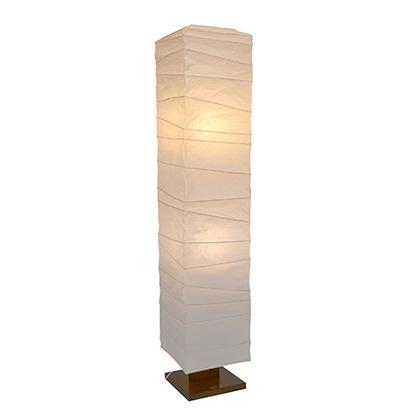彩光デザイン 大型和風照明フロアスタンドライト 揉み紙 W270mm×D270mm×H1340m D-201