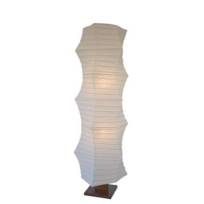 彩光デザイン 大型和風フロアスタンドライト 揉み紙 W490mm×D490mm×H1430m D-207