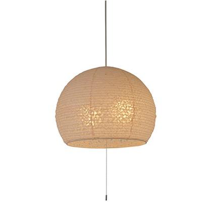 彩光デザイン 和風照明ドーム型2灯ペンダントライト 落水紙オレンジ Φ390mm×H315mm SPN2-1063