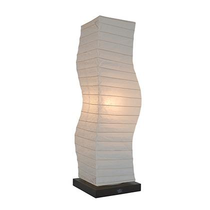 彩光デザイン 和風照明フロアランプ 揉み紙×麻葉白 W190mm×D190mm×H710mm SF-2071
