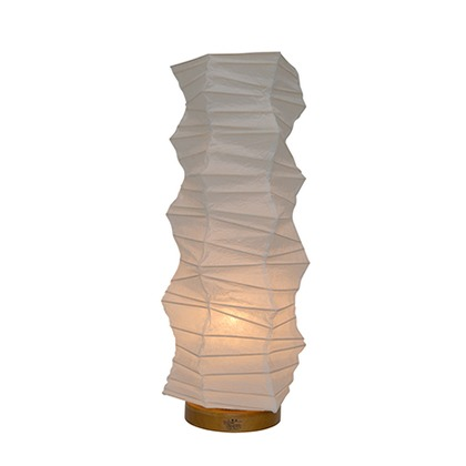 彩光デザイン 和風照明フロアランプ 揉み紙 Φ190mm×H480mm SS-3081