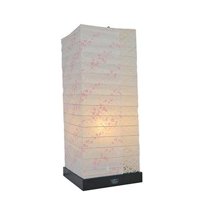 彩光デザイン 和風照明フロアランプ 花うさぎピンク×小梅白 W190mm×D190mm×H480mm SS-3082