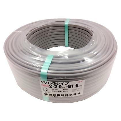 愛知電線 VVFケーブル 600Vビニル絶縁ビニルシースケーブル 直径(mm):360.高さ(mm):11 VVF2X2.0+G1.6