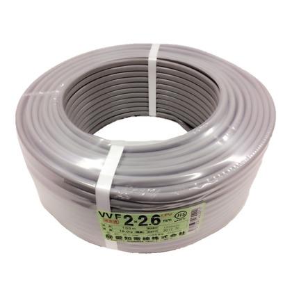 愛知電線 VVFケーブル 600Vビニル絶縁ビニルシースケーブル 直径(mm):370.高さ(mm):12 VVF2X2.6M100