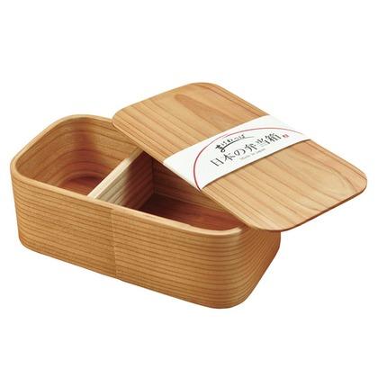 ヤマコー 日本の弁当箱長角一段640ml 約 幅17×奥行9×高さ6(cm)