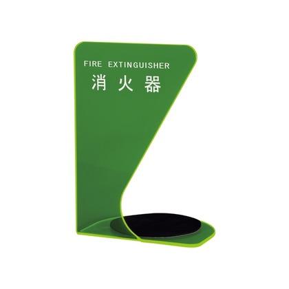 神栄ホームクリエイト 消火器ボックス 三角型 蛍光グリーン 330×220×180mm SK-FEB-FG340-2