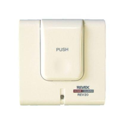 REVEX(リーベックス) 呼び出しボタン&携帯受信チャイム ホワイト 呼び出しボタン:W70×H72.5×D27.5mm/携帯受信チャイム:W55×H90×D25mm REV120