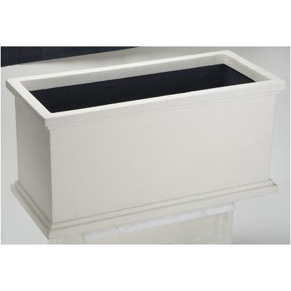 ヤマトプラスチック ファイバーグラス鉢カバー クラウンCPL-80  ホワイト