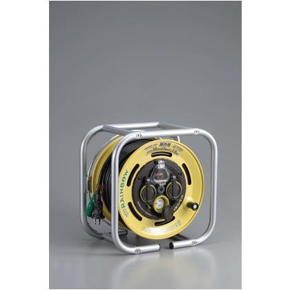 ハタヤ/HATAYA 段積みリールケーブルタイプ 漏電遮断器付 接地付温度センサー付 30m DSBE-30KC
