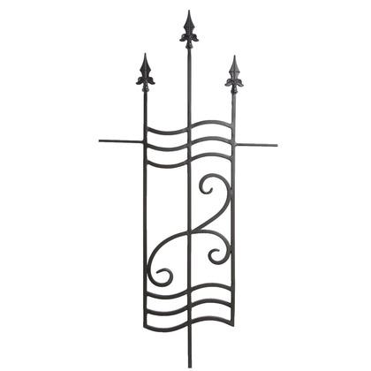 Luxiron (ラクシロン) ロートアイアン 嵌め込み型化粧格子(壁面埋め込み固定タイプ) 黒色 395mm×1.000mm×12mm JHIL-14 ロートアイアン 格子 スリット