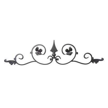 Luxiron (ラクシロン) ロートアイアン 妻飾り、壁飾り 黒色 760mm×190mm JHIT-02 ロートアイアン 妻飾り ウォールアクセサリー