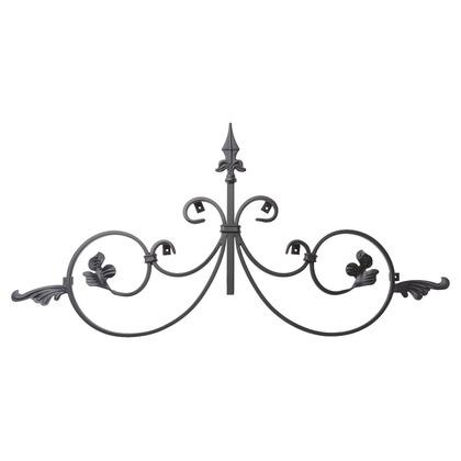 Luxiron (ラクシロン) ロートアイアン 妻飾り、壁飾り 黒色 800mm×400mm JHIT-04 ロートアイアン 妻飾り ウォールアクセサリー