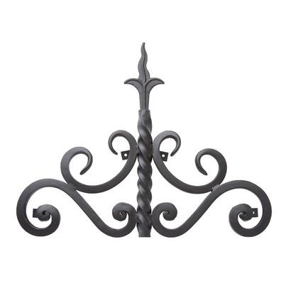 Luxiron (ラクシロン) ロートアイアン 妻飾り、壁飾り 黒色 420mm×330mm JHIT-07 ロートアイアン 妻飾り ウォールアクセサリー