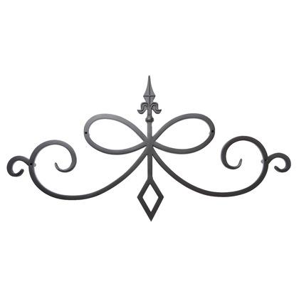 Luxiron (ラクシロン) ロートアイアン 妻飾り、壁飾り 黒色 800mm×415mm JHIT-12 ロートアイアン 妻飾り ウォールアクセサリー